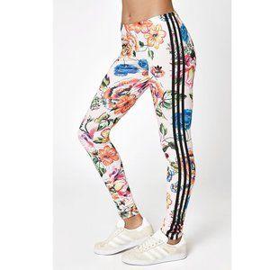 Adidas Floral 3 Stripe Leggings